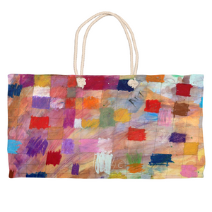 Colorful Modern Weekender Tote