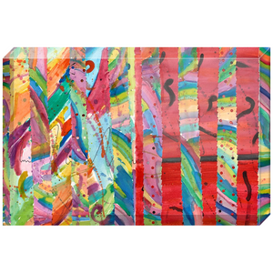 Colorful Collage Acrylic Block