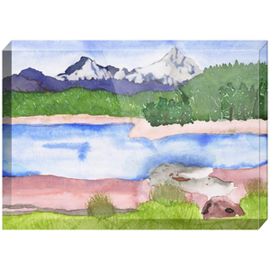Rocky Mountains Acrylic Block