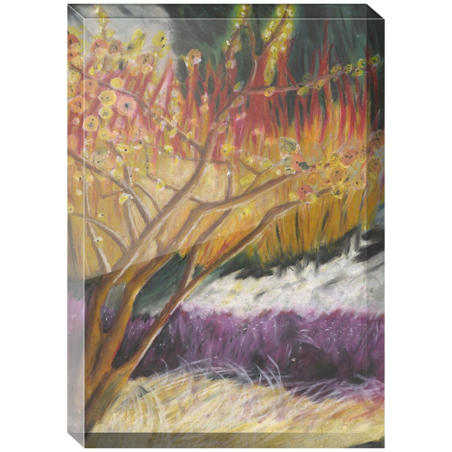 Red and Purple Tree Acrylic Block