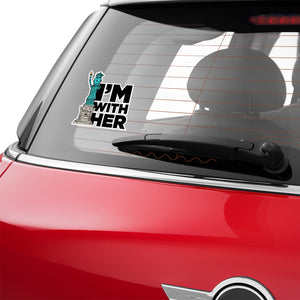 I'm With Her - Lady Liberty Vinyl Decal