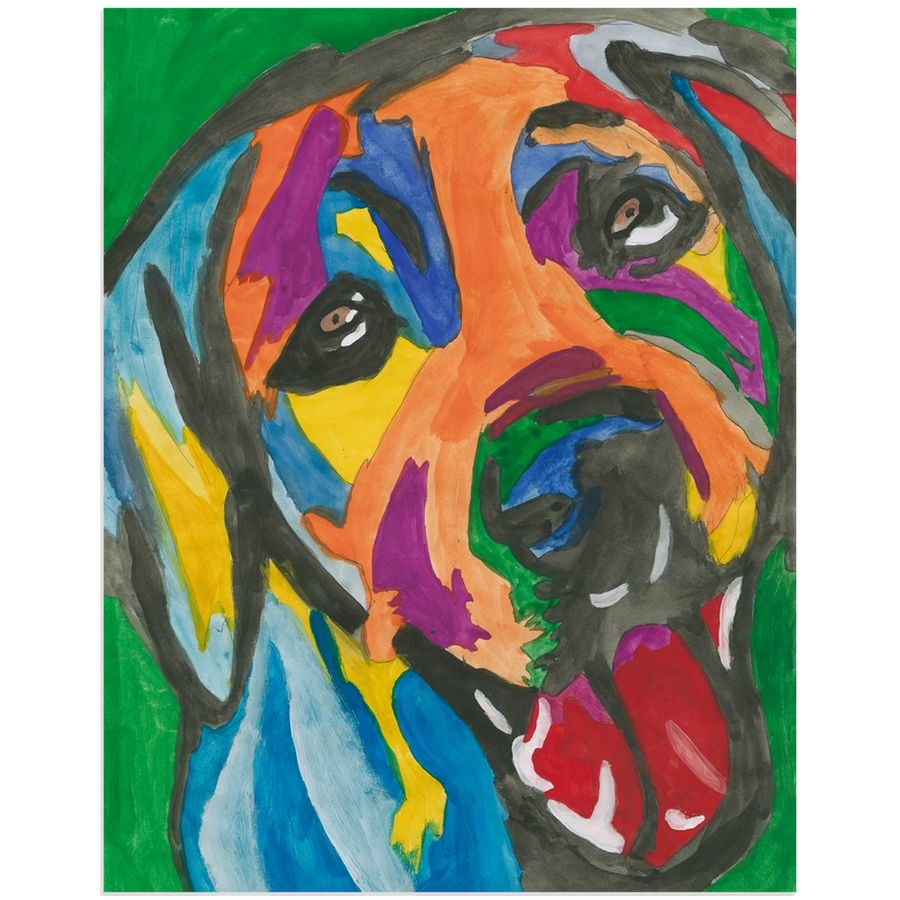 Rainbow Dog Acrylic Print