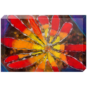 Multicolor Flower Acrylic Block