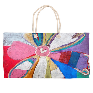 Abstract Flower Weekender Tote