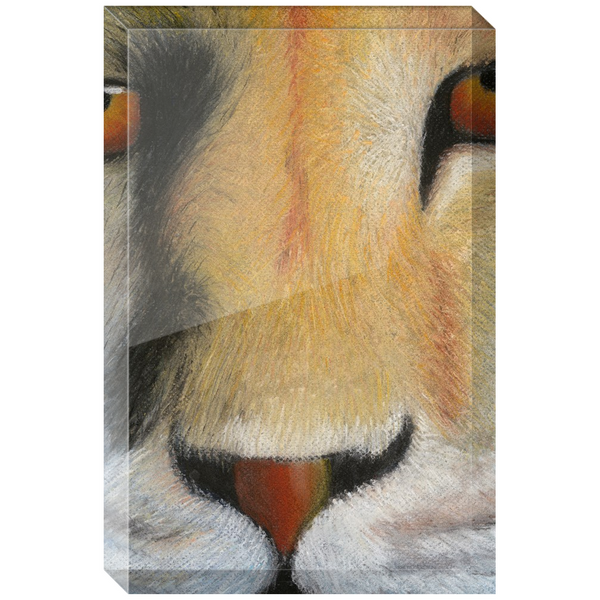 Lion Acrylic Block