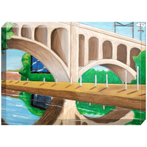 City River Acrylic Block