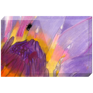 Lavender Waterlily Acrylic Block