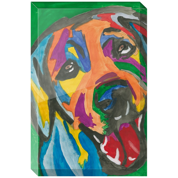 Rainbow Dog Acrylic Block