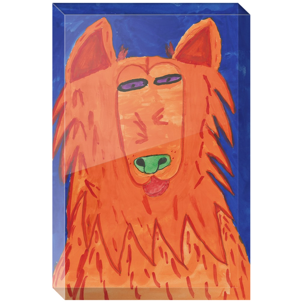 Orange Dog Acrylic Block