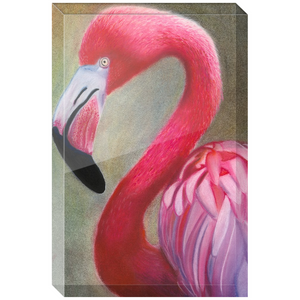 Pink Flamingo Acrylic Block