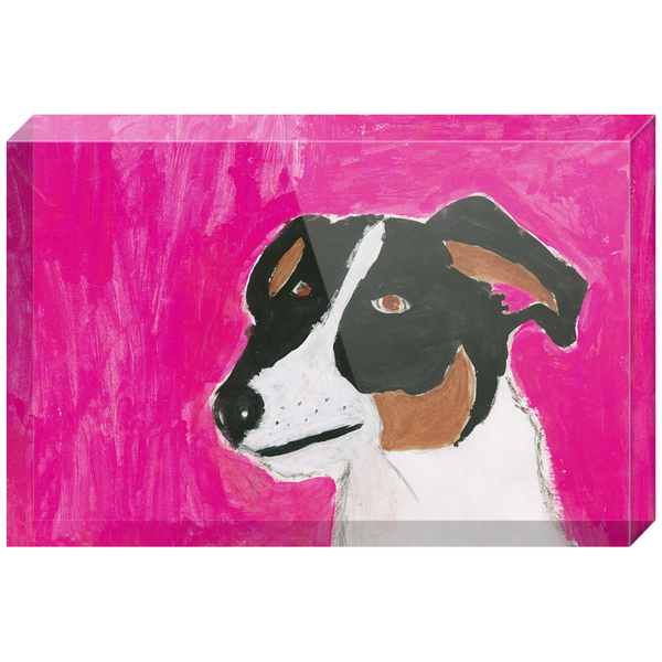 Lucky The Dog Acrylic Block