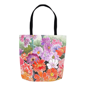 Impressionistic Flower Tote