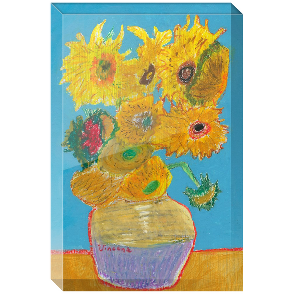 Vincent Van Gogh Sunflowers Acrylic Block