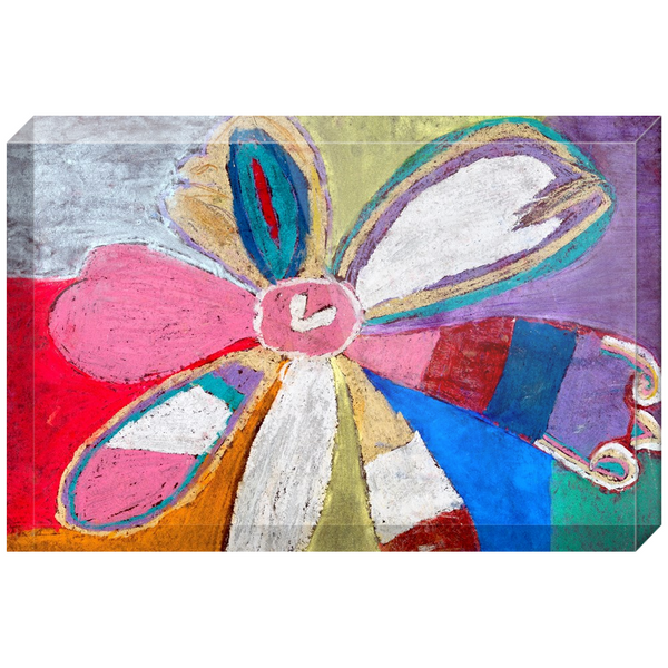 Abstract Flower Acrylic Block