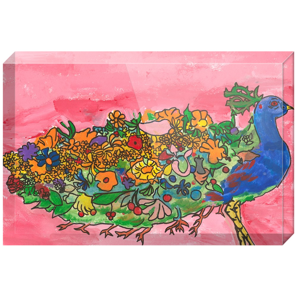 "Peter Paone ""Peacock"" Acrylic Block"