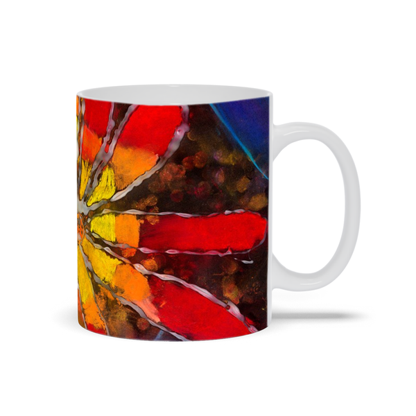 Multicolor Flower Mug