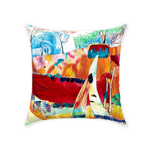 Nature Abstracted Throw Pillow