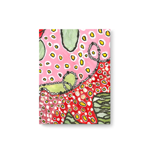 Pink and Green Abstract Journal