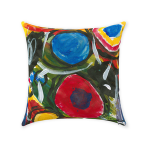 Silly Circles Throw Pillow