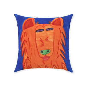 Orange Dog Throw Pillow