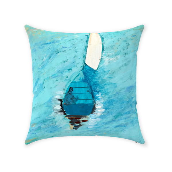 Peaceful At Sea Throw Pillow