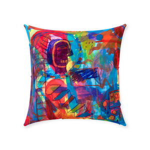 Courageous Colors Throw Pillow