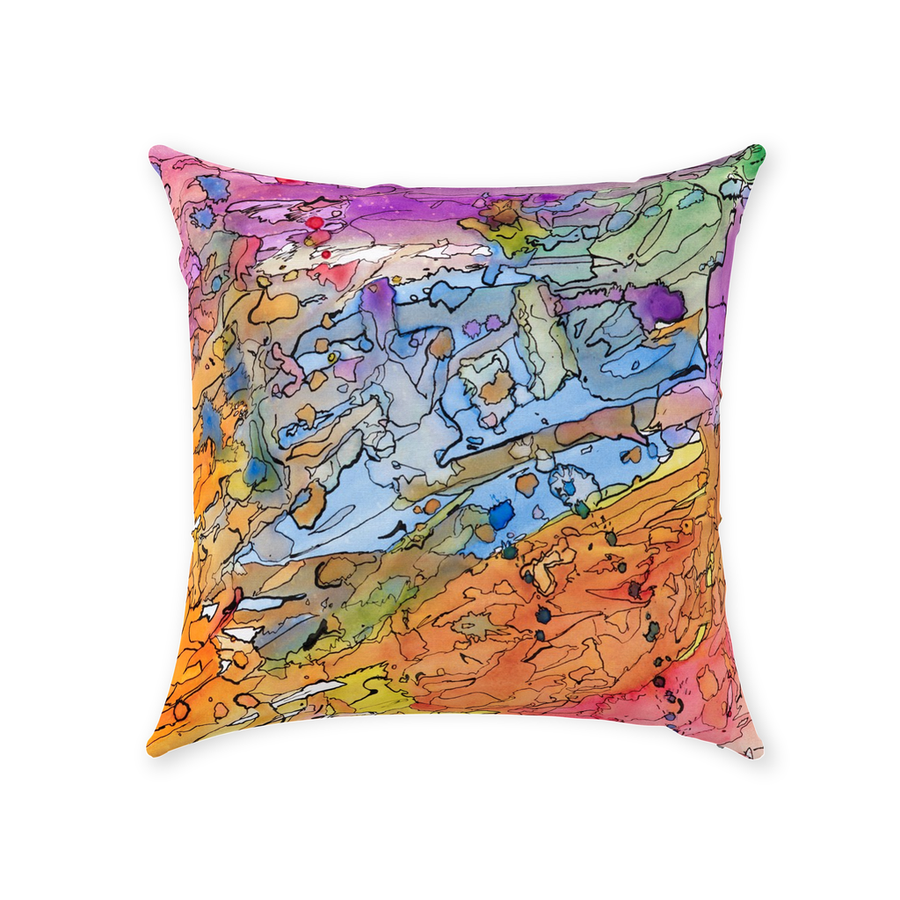 Watercolor Dreamin' Throw Pillow