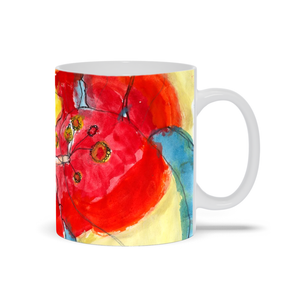 Red & Yellow Waterlily Mug