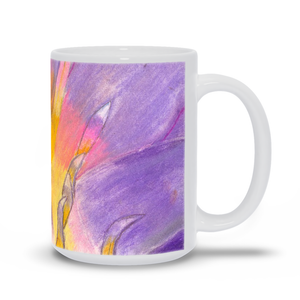 Lavender Waterlily Mug