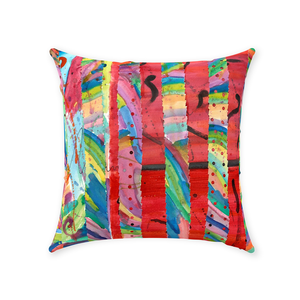 Colorful Collage Throw Pillow