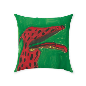 Big Red Dog Throw Pillow