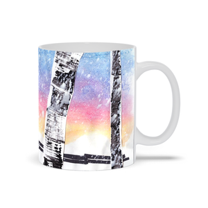 Birch Trees In Snow Mug