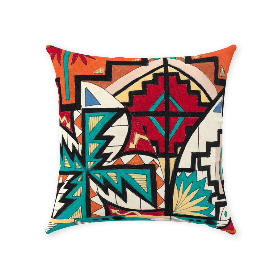 Navajo Pattern Throw Pillow