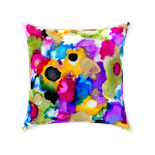 Cheerful Circle Throw Pillow