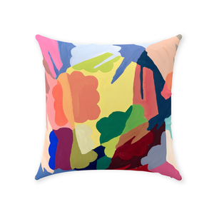 Vibrant Shapes Throw Pillow