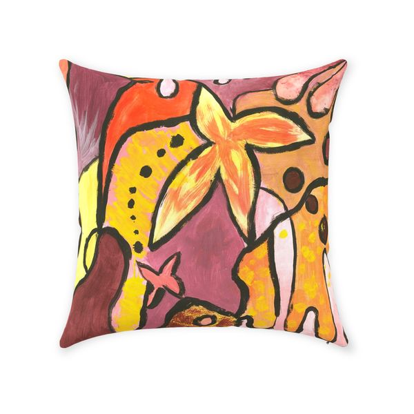 Orange Follower Throw Pillow