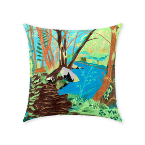 Peaceful River Throw Pillow