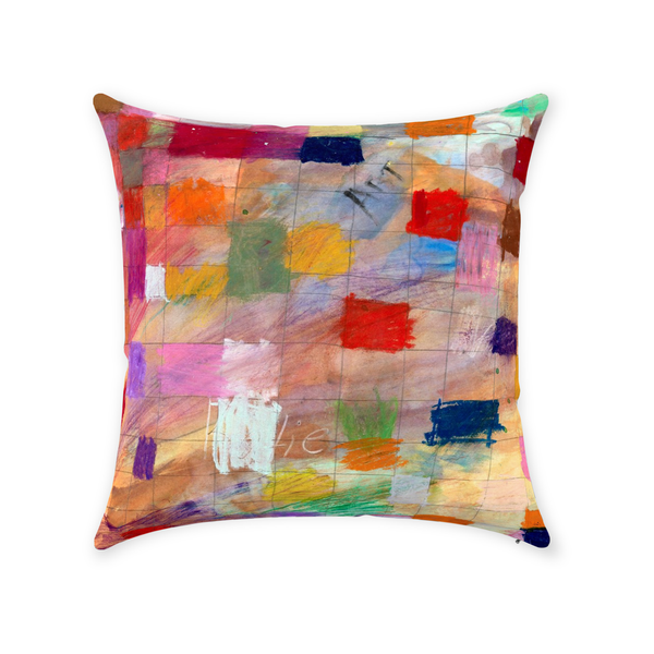 Colorful Modern Throw Pillow