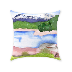 Rocky Mountains Throw Pillow