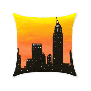 New York City Sunset Throw Pillow