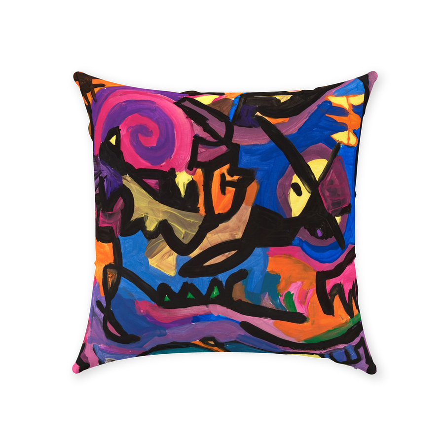Modern Impressions Throw Pillow