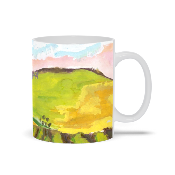 Green Hillside Mug