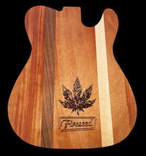Load image into Gallery viewer, Telecaster Guitar Wood Rolling Tray