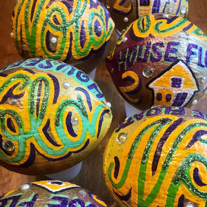 Mardi Gras Commemorative Coconut (2021)