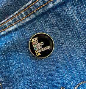 "Jamnola ""Joy Art Music New Orleans"" Enamel Pin"