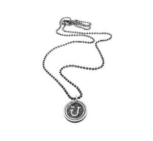 JAMNOLA STERLING SILVER SIGNET NECKLACE