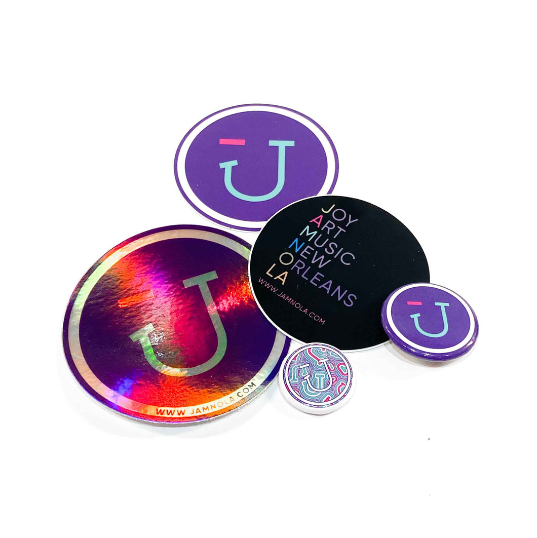 Jamnola Sticker & Button Pack