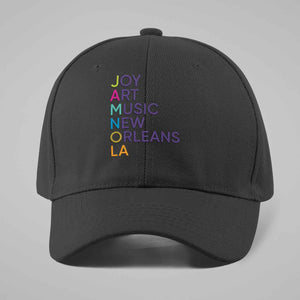 "JAMNOLA  ""Joy Art Music New Orleans""  EMBROIDERED TRUCKER HAT"