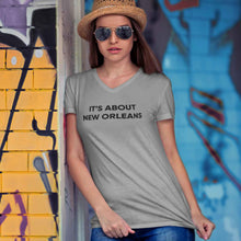 Load image into Gallery viewer, It's About New Orleans™ Charity / Women's V-Neck T-Shirt