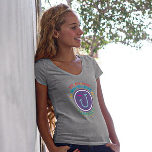 Logo V-Neck T-Shirt/ Women's